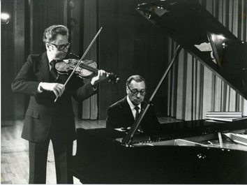 Violin and piano duet.